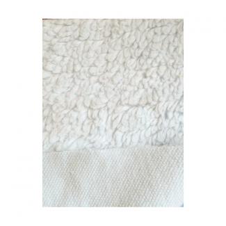 Peau d'agneau Peluche de coton Bio GOTS Blanc cassé