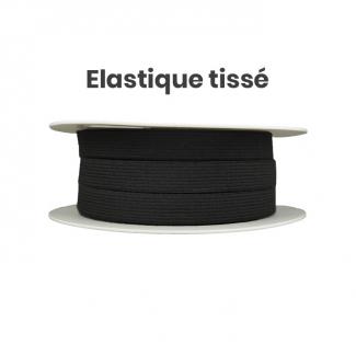Elastique Tissé 20mm Noir (bobine 25m)