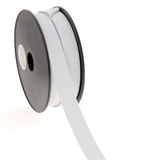Woven Elastic White 20mm (50m roll)