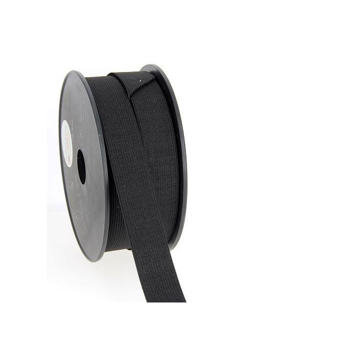 Woven Elastic Black 25mm (50m roll)