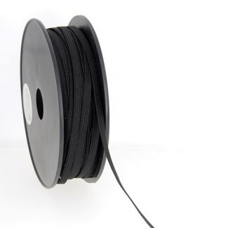 Woven Elastic Black 5mm (50m roll)