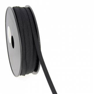 Soft Stretch Elastic Black 7mm (by meter)