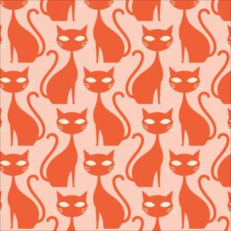Organic cotton print A Walk Remembered Orange Tabby Cat Cloud9