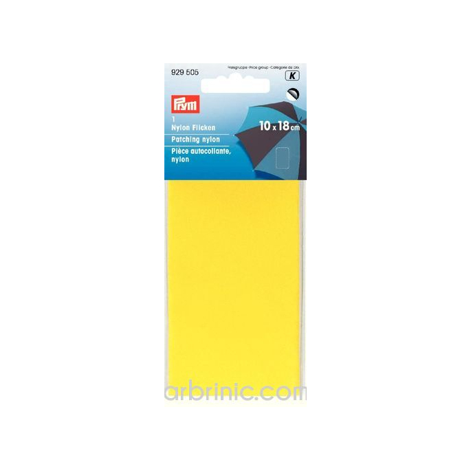 Self-adhesive mender PRYM Nylon Yellow (10x18cm)