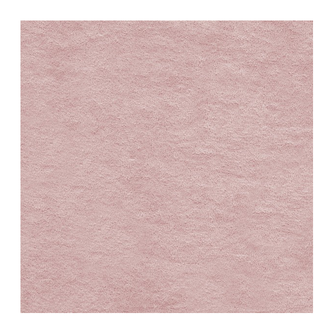 Antique pink GOTS organic cotton micro loop terry