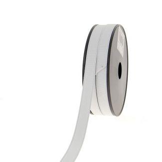 Elastique Côtelé 15mm Blanc (bobine 25m)