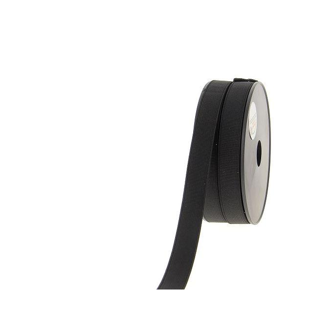Ribbed Elastic Black 20mm (25m roll)