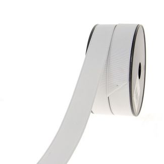 Ribbed Elastic White 30mm (by meter)