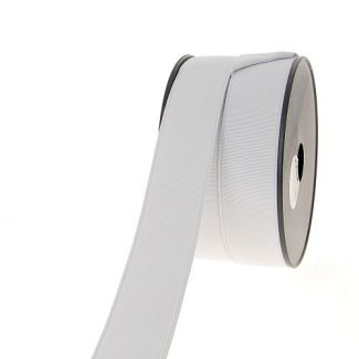 Ribbed Elastic White 35mm (by meter)