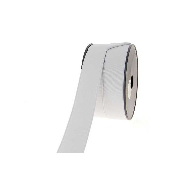 Ribbed Elastic White 35mm (25m roll)