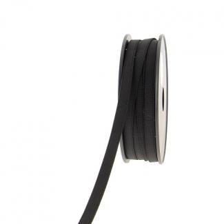 Elastique Côtelé 10mm Noir (bobine 25m)