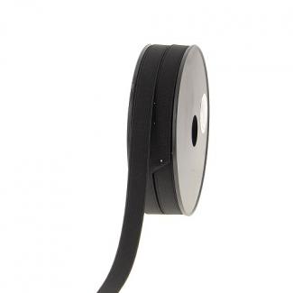 Elastique Côtelé 15mm Noir (au mètre)