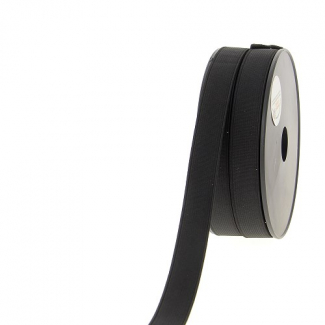 Elastique Côtelé 20mm Noir (au mètre)