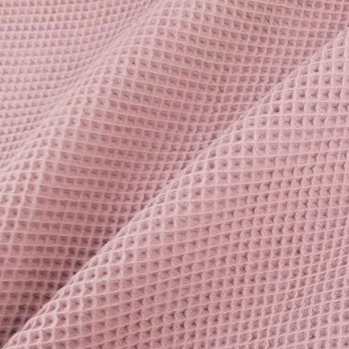 GOTS Organic cotton waffle Zefyr Pink