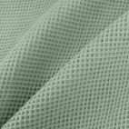 GOTS Organic cotton waffle Celadon Green