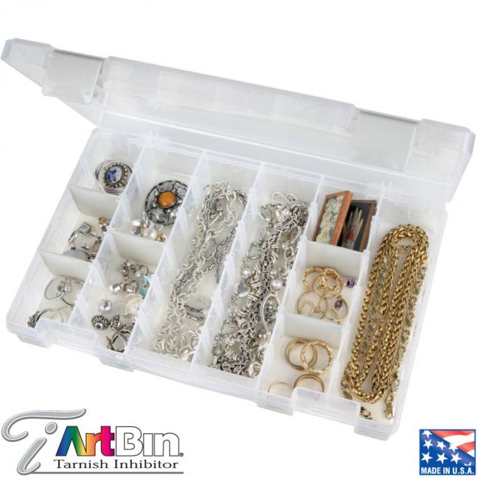 Medium Storage Box anti-tarnish 18 compartments ARTBIN
