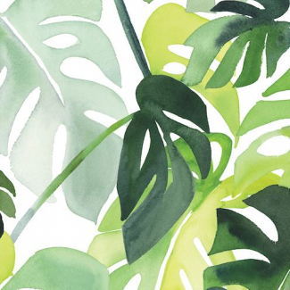 Laminated Organic Cotton Philodendron Cloud9