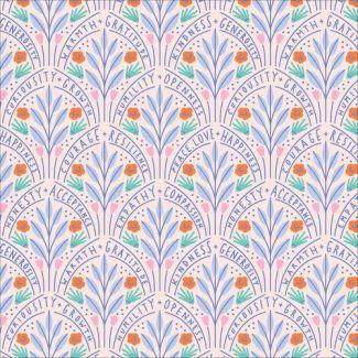 Popeline Coton Bio Universal Love Flower Guides Cloud9