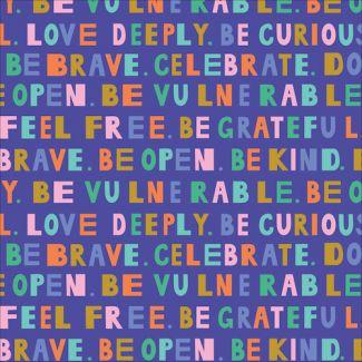 Popeline Coton Bio Universal Love Mindful Reminders Cloud9