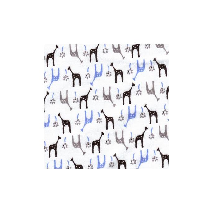 PUL poly imprimé Girafes glacées laize 140cm (par 10cm)
