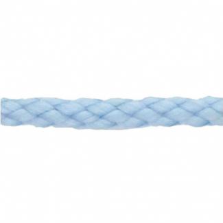 Cordon Anorak tresse plate 5mm Bleu Ciel (bobine 50m)