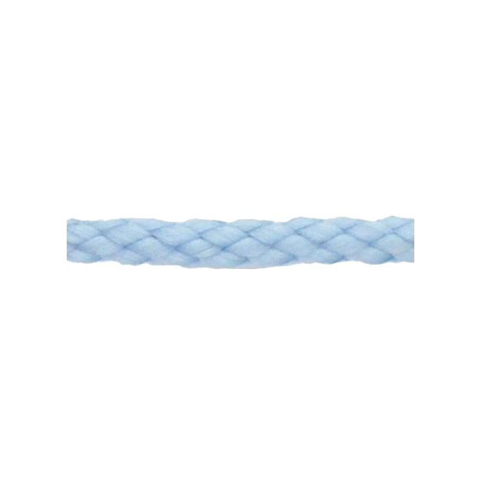 Braided Poly Cord 5mm Light Blue (50m roll)