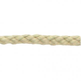 Cordon Anorak tresse plate 5mm Ecru (bobine 50m)