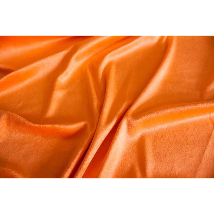 Velours de Bambou - Orange (au mètre)