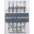 Machine needles Ball point - Assorted sizes 70-80-90 (x5)