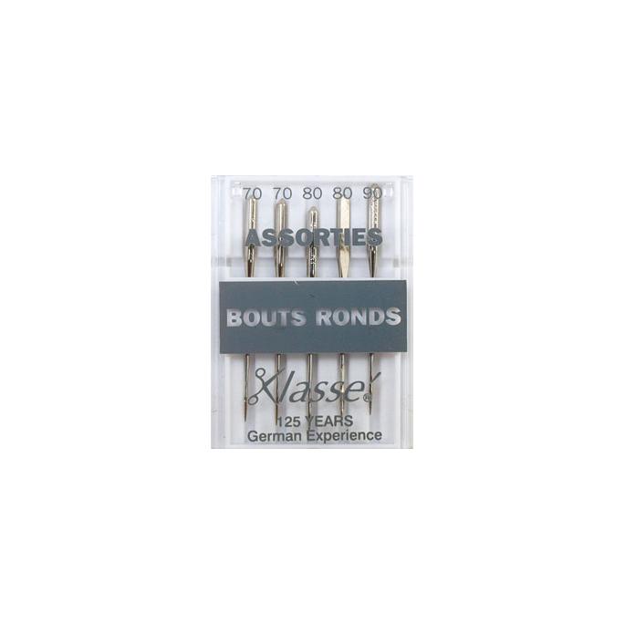 Aiguilles Machine Bouts ronds - Assortiment 70-80-90 (x5)