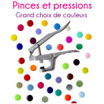 Pressions, boutons, oeillets